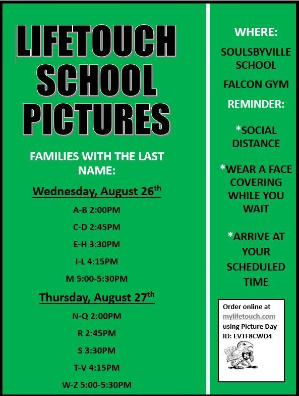 Lifetouch School Picture Schedule