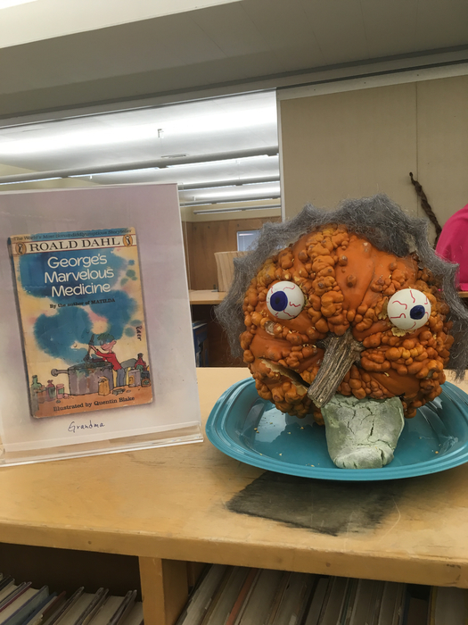 Our Winner! Mr. Baer's 4th grade class made Grandma from George's Marvelous Medicine! Congratulations kids!