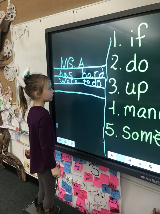Our interactive screen makes sight word and sentence writing so much fun!