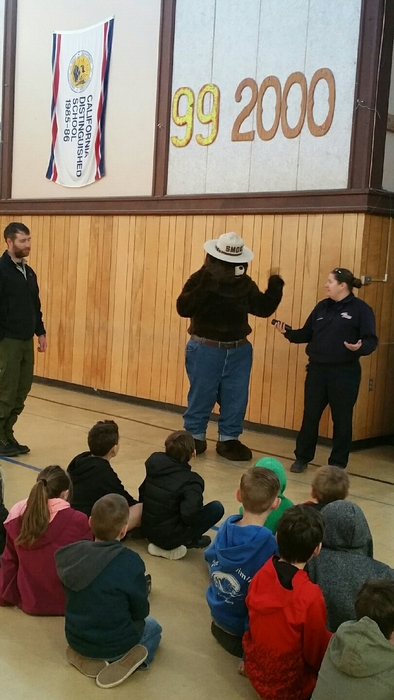 Smokey Bear at School
