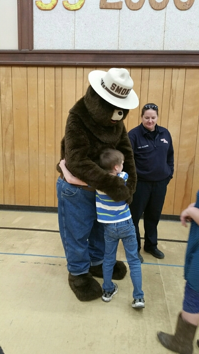 Bear Hug to Smokey Bear