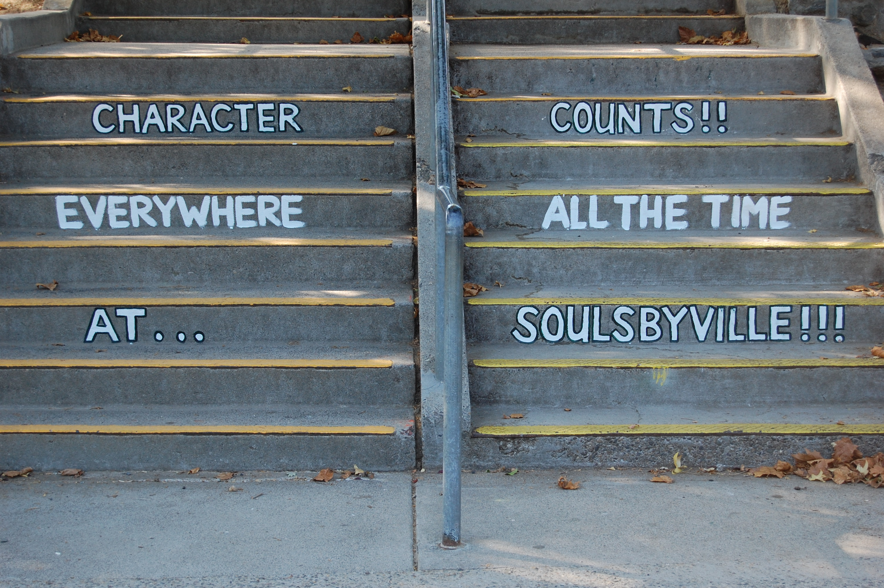 Character counts everywhere all the time at Soulsbyville